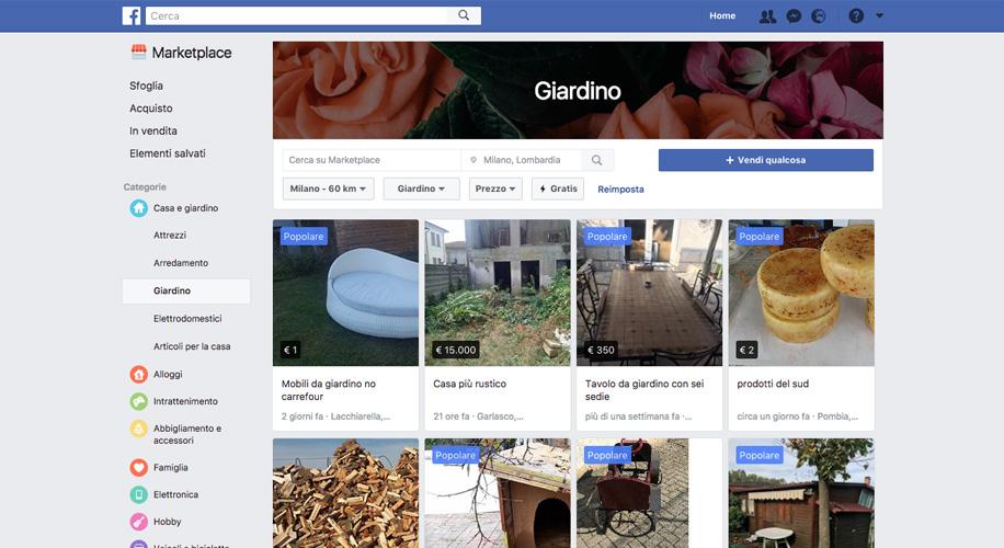Facebook Marketplace, cosa è e come funziona